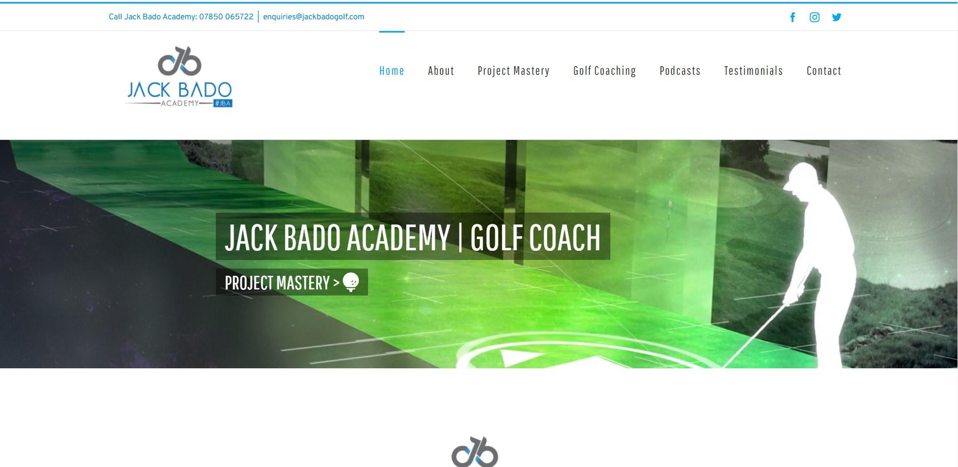 Jack Bado Academy | Golf Coach Sussex